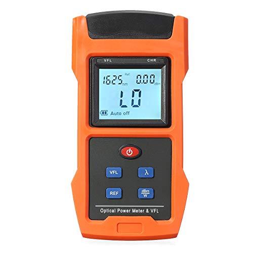 ZHFENG Wattmètre optique LCD USB 10mW et testeur de source de lumière rouge VFL Adaptateur Gause FC SC Outil de mesure