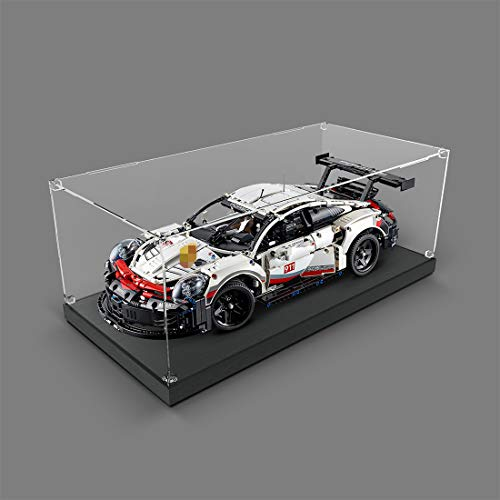 ReallyPow Acryl Vitrine, Selbstmontage Schaukasten für Lego 42096 Technik Porsche 911 RSR (nur Vitrine enthalten, kein Lego-Kit) - Transparente Version