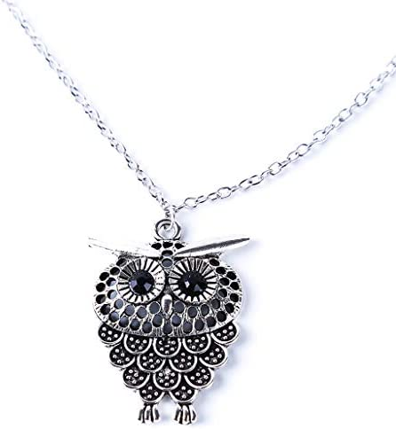 WEILYDF Sweater Chain stylishable Cute Animal Necklace Lovely Exquisite Owl Necklace Long Sweater product image