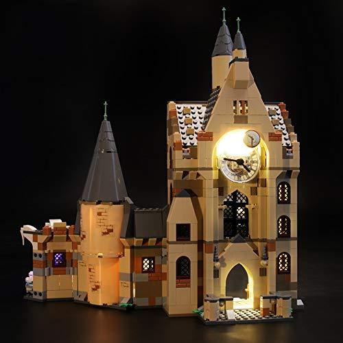 Kit De Iluminación Led para Lego Harry Potter Torre del Reloj De Hogwarts - Compatible con Ladrillos De Construcción Lego Modelo 75948, Juego De para Legos No Incluido