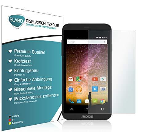 Slabo 2 x Bildschirmfolie für Archos 40 Power Bildschirmschutzfolie Zubehör Crystal Clear KLAR - Made IN Germany