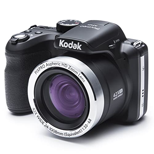 "Kodak PIXPRO AZ421 - Cámara digital (16.15 Mp, Cámara puente, 25.4/58.4 mm (1/2.3""), 42x, 4x, 4.3 - 180.6 mm), color negro"