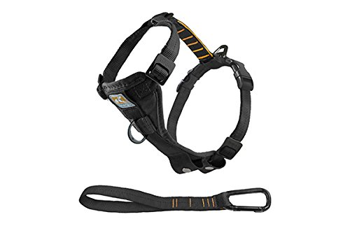 Kurgo Tru-Fit No Pull Dog Harness, Easy Walking Harness, Quick On and Off Harness With Pet Seat Belt Tether for Car, Black, Large