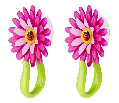 VIGAR Flower Power Gancho con Ventosa, Rosa, 8x5x12 cm, 2 Unidades, PP,...