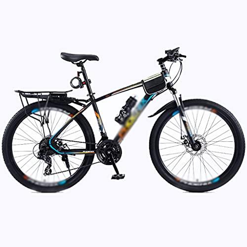 Bicicleta De Montaña Bicicleta De 24 Velocidades, Bicicleta De Scooter, Estudiante Adulto De Carreras De Velocidad Variable Fuera De Carretera(Color:B- Azul Naranja)