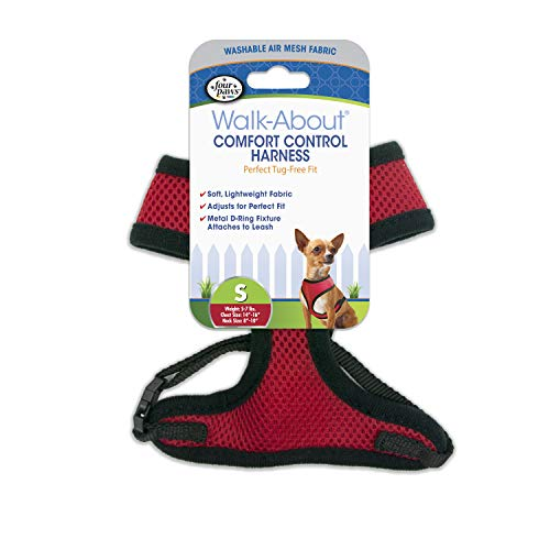 Four Paws Comfort Control Dog Harness Red Small