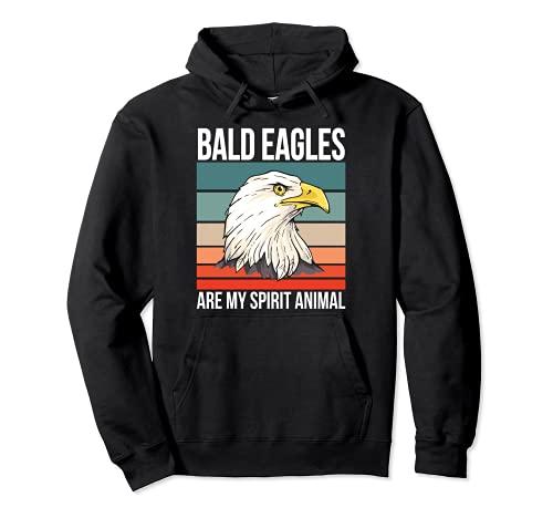 Águila Calva Espíritu Animal Águila Sudadera con Capucha