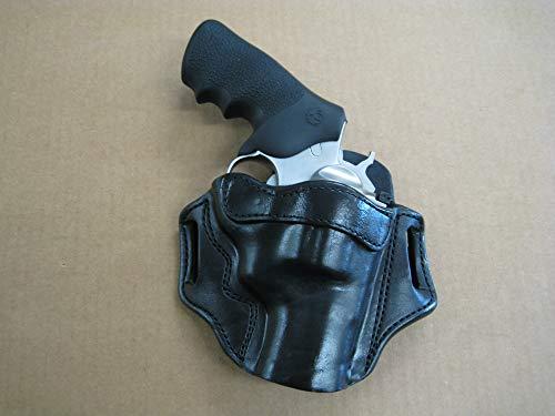 Azula OWB Leather 2 Slot Molded Pancake Belt Holster for Ruger Super Redhawk Alaskan Revolver CCW Black RH