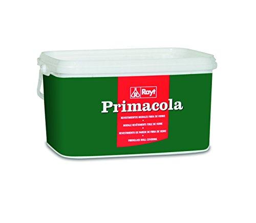Rayt 585-23 Primacola CP-1316 Adhesivo vinílico Especial para revestimientos de Fibra de Vidrio sobre Paredes de Yeso, Cemento, Madera, etc. SIN disolventes, 5kg