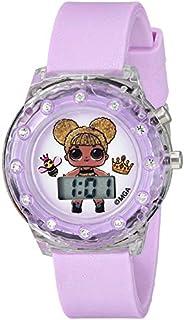 L.O.L. Surprise! Girls' Quartz Watch with Plastic Strap, Purple, 16 (Model: LOL4044)