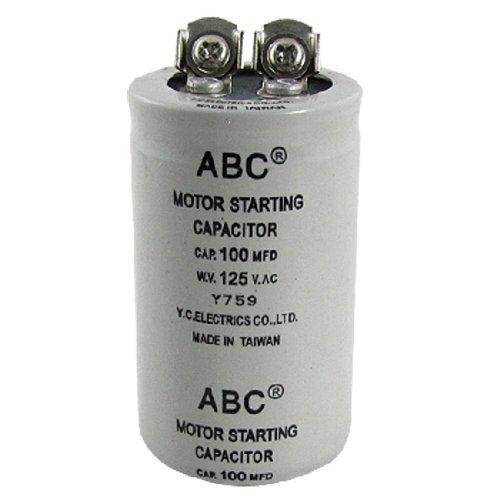 Cilindro 100MFD 125V AC Motor condensador de arranque