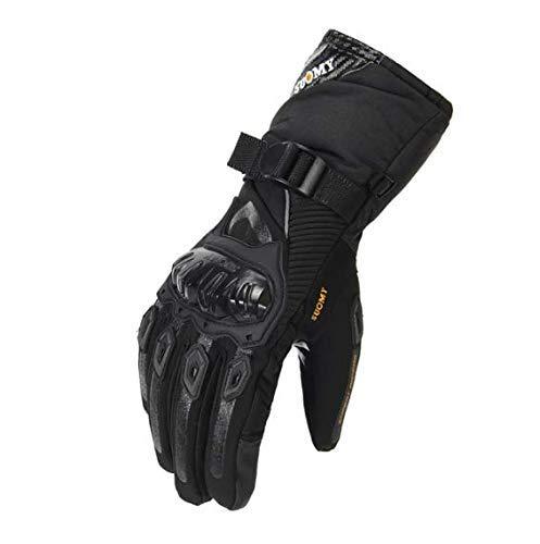 zhipeng Guantes de motocicleta para hombre, impermeables, a prueba de viento, de invierno, para motorista, pantalla táctil, moto, color negro, talla M