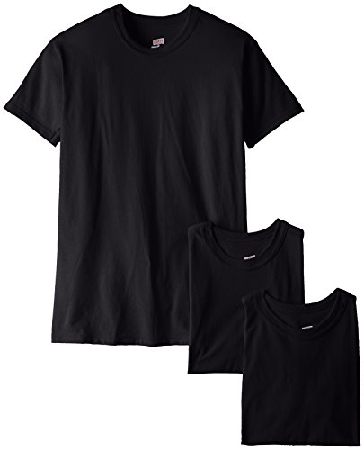 Soffe Men's 3 Pack-USA Poly Cotton Military Tee, Black, Large