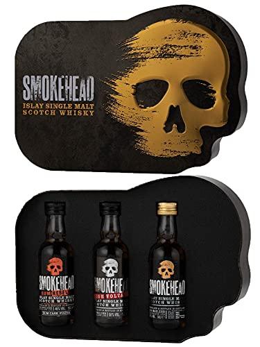 Smokehead Gift Tin Single Malt Whisky 3 x 5cl