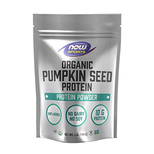 Now Foods Now Sports Nutrition, Organic Pumpkin Seed Protein Powder with 10g of Protein, Certified Non-GMO, Unflavored, 1-Pound, 16 Ounce