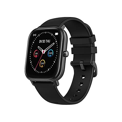 QHG Smart Watch para teléfonos Android para Hombres para Hombres, relojería de Fitness con Monitor de frecuencia cardíaca, rastreador de Actividades Impermeables con Monitor de sueño (Color : B)