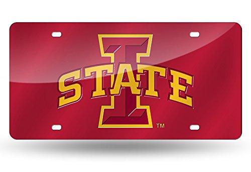 NCAA Rico Industries Laser Inlaid Metal License Plate Tag, Iowa State Cyclones