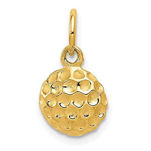 14k Yellow Gold Golf Ball Pendant Charm Necklace Sport Fine Jewelry For Women Gifts For Her