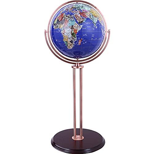 Globus 42-100 cm groß HD Universal Retro Globus Studienraum Wohnzimmer Bodendekoration Dekoration Handwerk Geschenk Globen (Color : B, Size : 50CM)