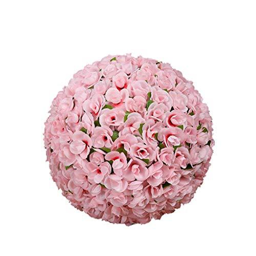 LXLTL Artificiale Verde Erba Pianta Panno Di Seta Sfera Plastica Pianta Artificiale Palla Palla Decorazione Di Matrimonio Interno O Esterno Rose Grass Ball,20cm