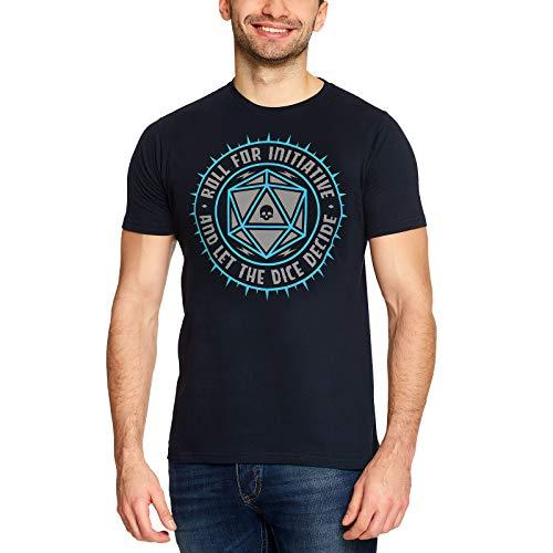 Elbenwald Pen & Paper Herren T-Shirt Let The Dice Decide Würfel für Gaming Fans Baumwolle blau - XL
