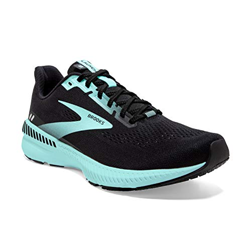Brooks Launch GTS 8 Black/Ebony/Blue Tint 7.5 B (M)