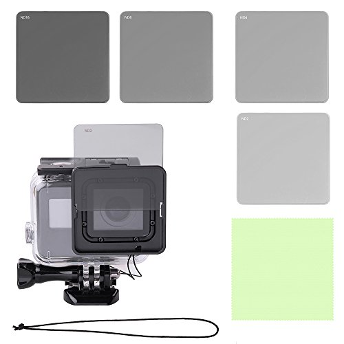 HOLACA Neutral Density Lens Filter Set with Filter Frame for Gopro Hero 5 Hero 6 Camera Used Together with Original Gopro Waterproof housing