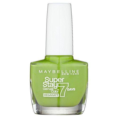 Maybelline SuperStay Mega Watt 7days 660 Lime Me Up Verde esmalte de uñas - esmaltes de uñas