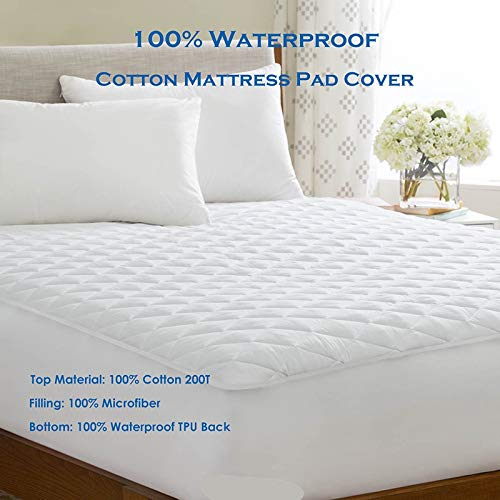 BEDDIANTAO Waterdichte Matrasbeschermer Cover Koning 180X210Cm 100% Katoen Waterdichte Matrasbeschermer Topper Bed Bug Proof Matrasbeschermer Soft Pad Voor Bed Matress Cover