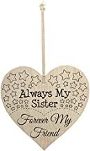 Meijiafei Always My Sister Forever My Friend Wooden Hanging Heart Best Sisters Plaque Gift