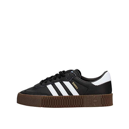 Adidas Sambarose, Zapatillas Clasicas Mujer, Negro (Core Black/Cloud White/Gum5), 38 EU