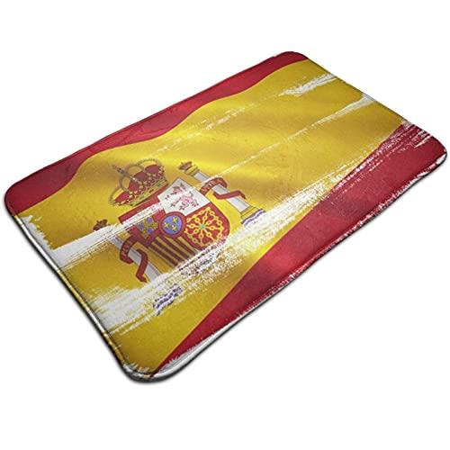 Alfombra de puerta de bienvenida con bandera de España, alfombra de entrada para interiores y exteriores, alfombrillas para piso, alfombrilla para raspador de zapatos, alfombrilla para baño, cocina, a