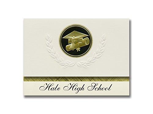 Signature Announcements Hale High School (Hale, MI) Graduation Announcements Presidential Style, Basic Paket mit 25 Cap & Diplom Siegel Schwarz & Gold
