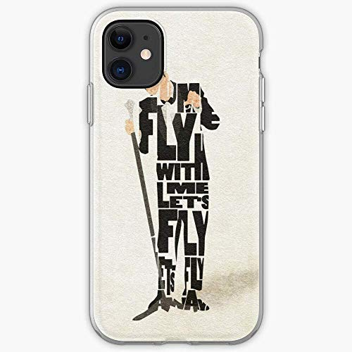 Frank Blues Rock Sinatra Portrait Fly Jazz | Clear TPU Phone Case for iPhone 12/12 Pro 12 11 Pro Max XR X SE 2020/8 7 6