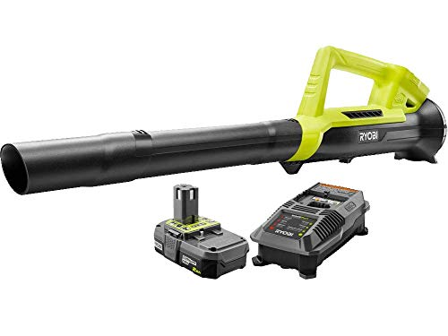Ryobi ONE+ 90 MPH 200 CFM 18-Volt Lithium-Ion Heavy Duty Durable Cordless Leaf Blower - 2.0 Ah Battery and Charger Included, Compact, (Renewed)