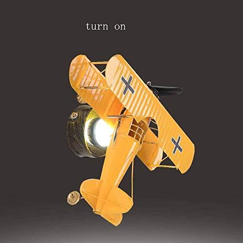 Willlly Retro Vliegtuigen Cartoon Led Kinderen Creatieve Wandlamp Op Bed Slaapkamer Jongen Kamer Kids Kamer Wandlamp Rood Blauw en Geel Kleur Blauw Warm Licht