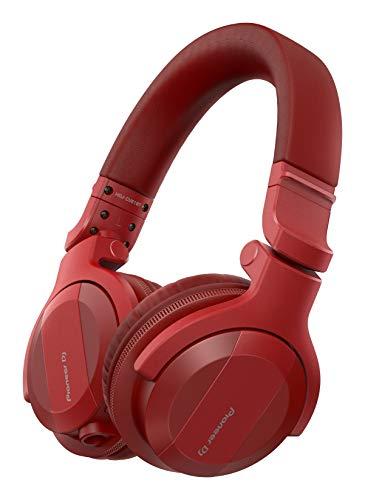 Pioneer DJ HDJ-CUE1BT-R, DJ Cuffie con Bluetooth, Rosso