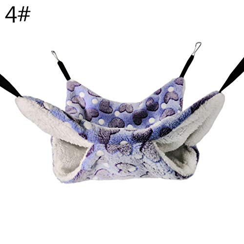NA. Nangjiang Double Layer Hamster Sugar Glider Hammock Soft Plush Small Pet Cage Sleeping Bed Winter Warm Squirrel Swing Nest for Parrot Ferret
