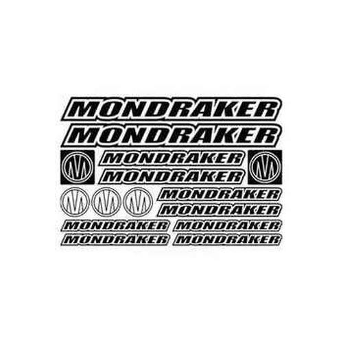 myrockshirt Mondraker Style 3 Bike Sponsorset Aufkleber Sticker ca.30cm Aufkleber Autoaufkleber Sticker Decal ohne Hintergrund UV&Waschanlagenfest