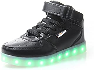 DoGeek LED Flashing Light Shoes Light Up Shoes for Boys and Girls 7 Colors Led Flashing Rechargeable Sneaker