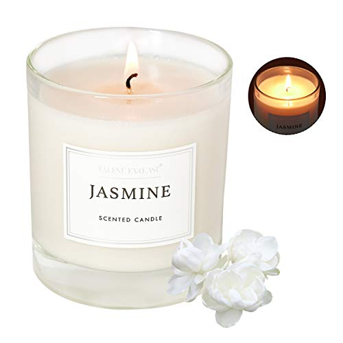 Jasmine Scented Jar Candle for Home 8.8oz Relaxing Soy Wax Candles for Men and Women Aromatherapy 45H Long Lasting