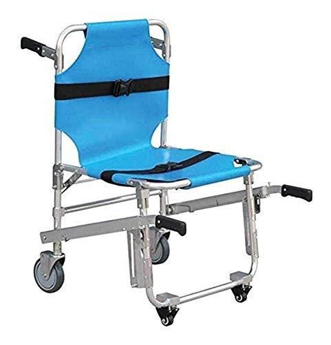 Emergency Stair Chair - 3 verstellbare Schnallen Sessellifte Emergency 4 Wheels Stair Chair Krankenwagen Feuerwehrmann Evakuierung Transport Stuhl, 350 lbs