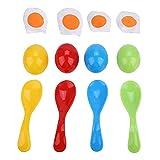 VGBEY Conjunto de día Deportivo - Juego de la Carrera de los Huevos y Las cucharas, Juego de Juguetes para Correr con los Huevos de la Cuchara para equilibrar los niños Juego Educativo