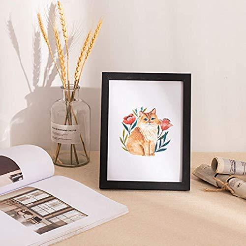 KAIHUI Marco De Fotos De Madera Rectangular El Marco De Fotos De Plexiglás Se Puede Usar Horizontal Y Verticalmente, Pared De Exhibición De La Pared De La Sala De Estar 3.5x5 Inch(8.8x12.8cm)