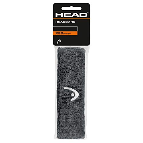 HEAD Unisex– Erwachsene Stirnband, Anthracite, Einheitsgröße