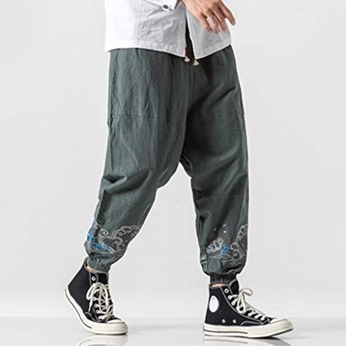 SANFASHION Tights - Men's Base Layer Leggings, Best Running Workout Pants Medium Men's Sport Pants, Jogger Tight Leggings Tracksuit Bottoms Sport Gym Fitness Slim Fit Running Casual Trousers