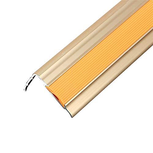 NEHARO Escalera Edge Red Trim 1,2M Longitud L Forma de lección de Aluminio Anti Deslizamiento sin Deslizamiento 35x20mm ángulo de ángulo escaleras de Borde Anti-colisión 2 Piezas Piso