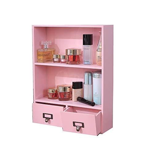 JISHIYU-Q Organizador de escritorio de madera, Vestir organizador de mesa con cajones, for el escritorio de almacenamiento for sus suministros de oficina, control remoto, joyería, maquillaje y Smartph