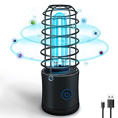 Lámpara Desinfección UVC Luz de Esterilización Germicida Ultravioleta Portátil 254nm Lámpara Recargable...