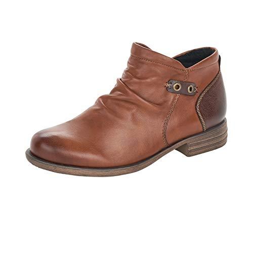 Remonte Damen Stiefeletten, Frauen Ankle Boots, reißverschluss Stiefel halbstiefel Bootie knöchelhoch Freizeit,Braun(Muskat),40 EU / 6.5 UK